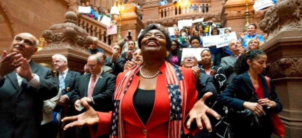 Blue wave hits New York Senate