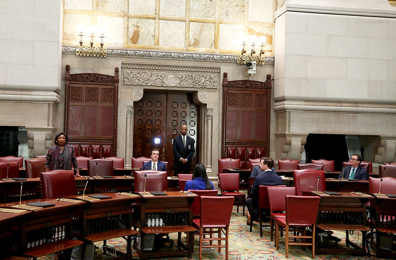 New York legislature floor